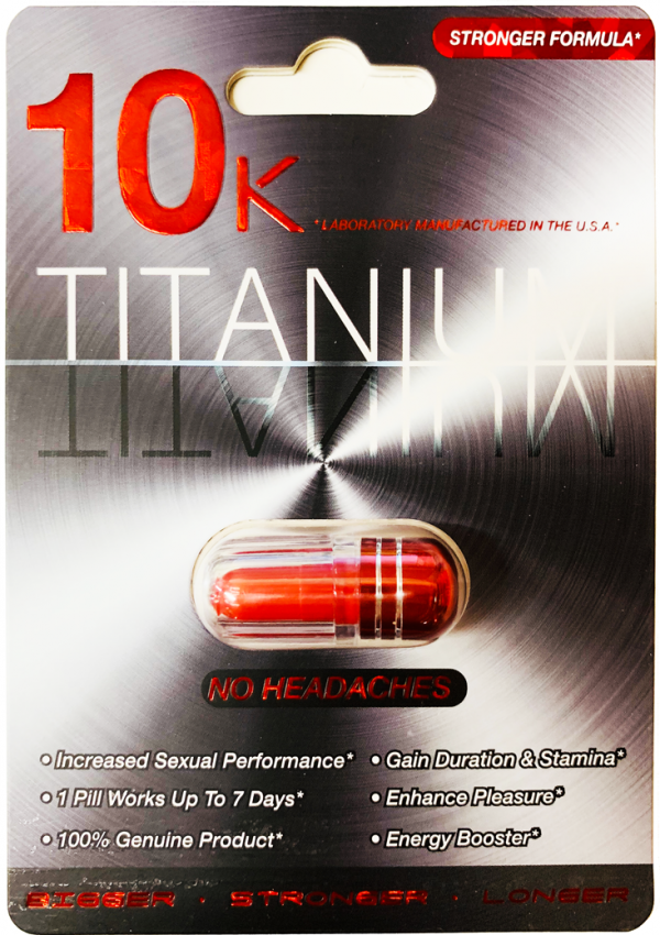 10K Titanium Stronger Formula For Men Enhancement Pill