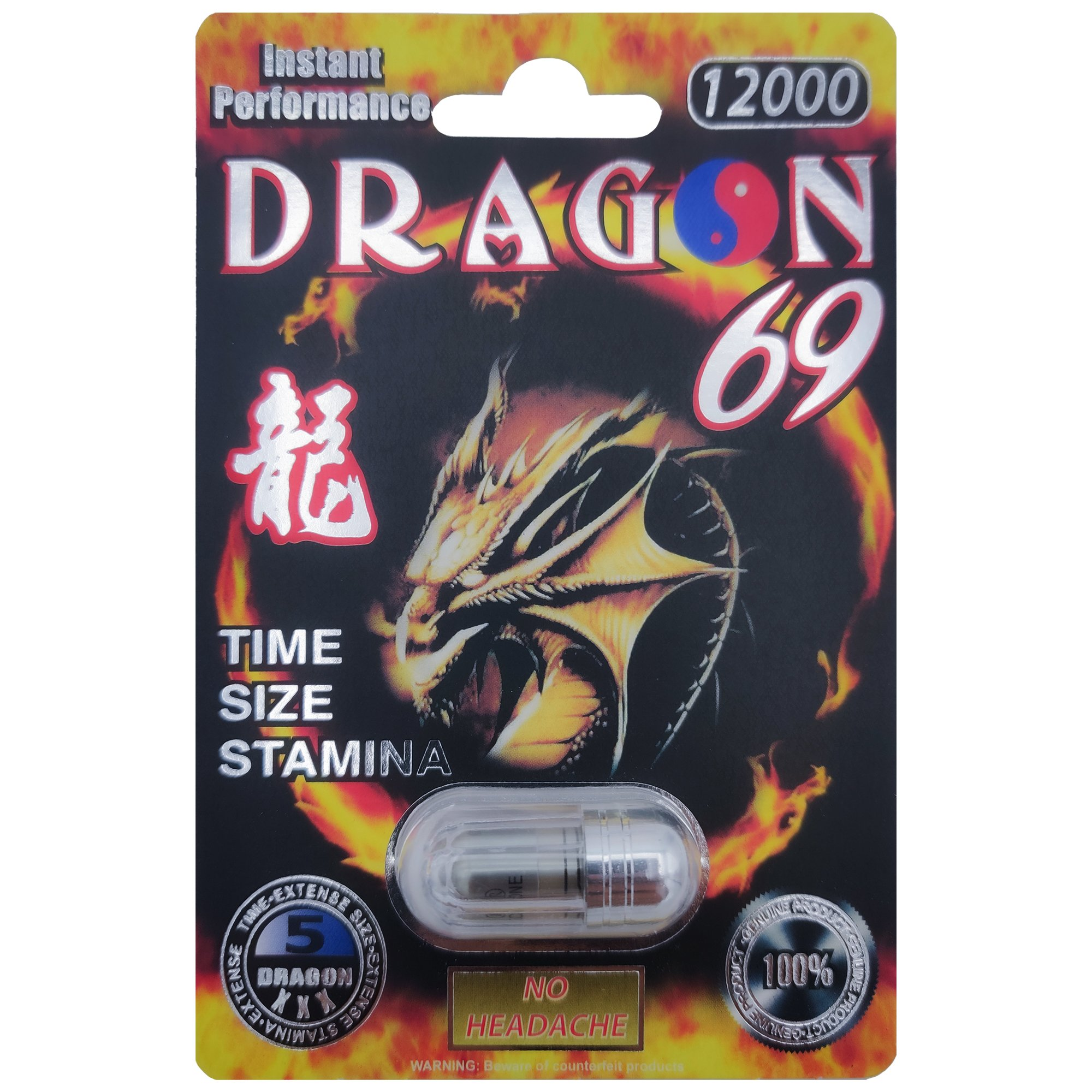 Dragon 69 Platinum 12000 Male Enhancement Pill