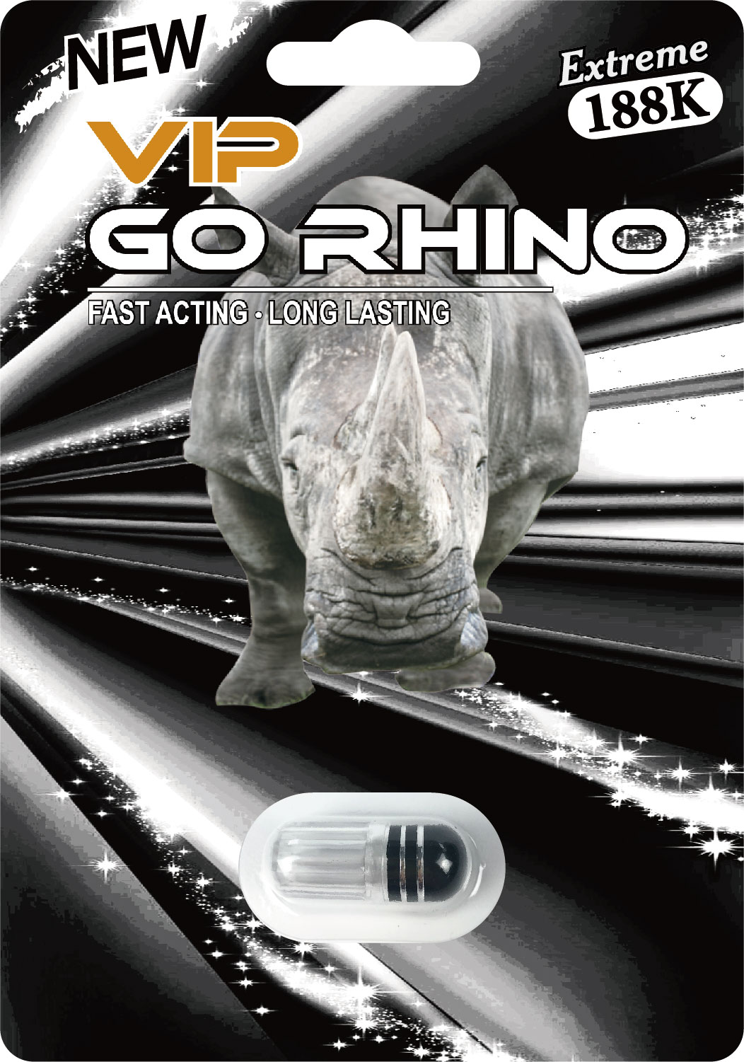 Go Rhino New VIP Extreme 188K Male Enhancement Pill
