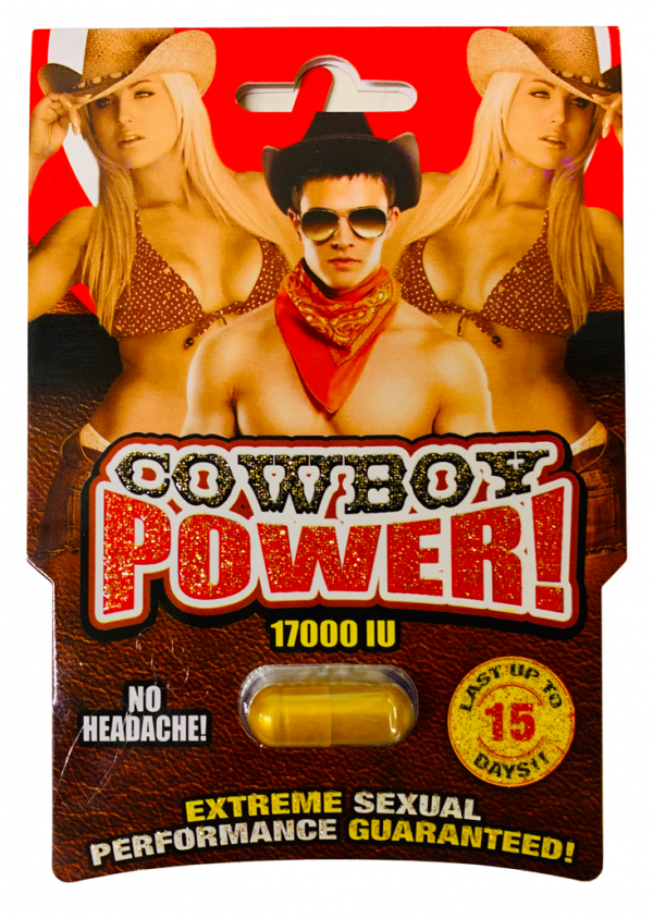 Cowboy Power 17000IU Extreme Gold Sexual Performance Enhancer Pill