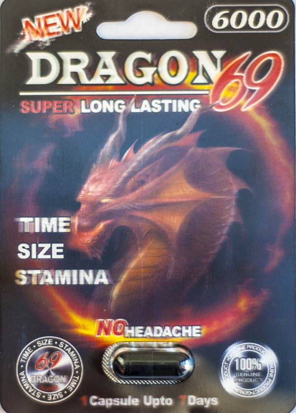 Dragon 69 6000 Male Sexual Performance Enhancer 1 Pill 3D