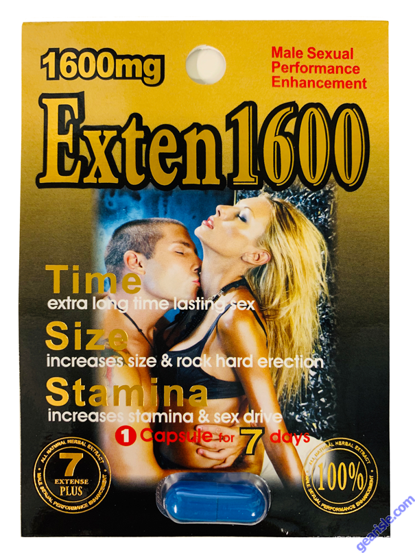 Exten Plus 1600 mg Male Sexual Enhancement Pill