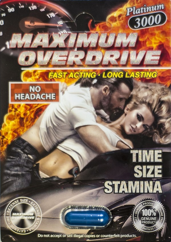 Maximum Overdrive Platinum 3000 Pill Sexual Enhancer