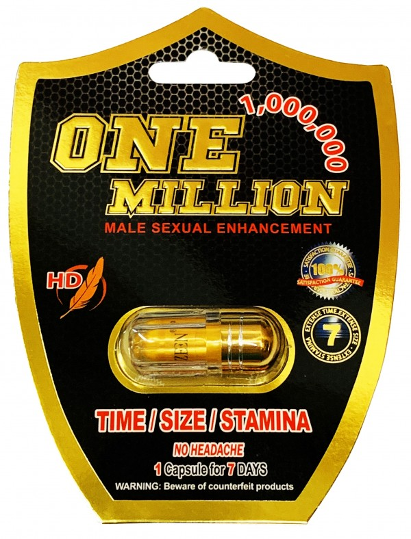 One Million 1000000 Male Enhancement Gold Pill