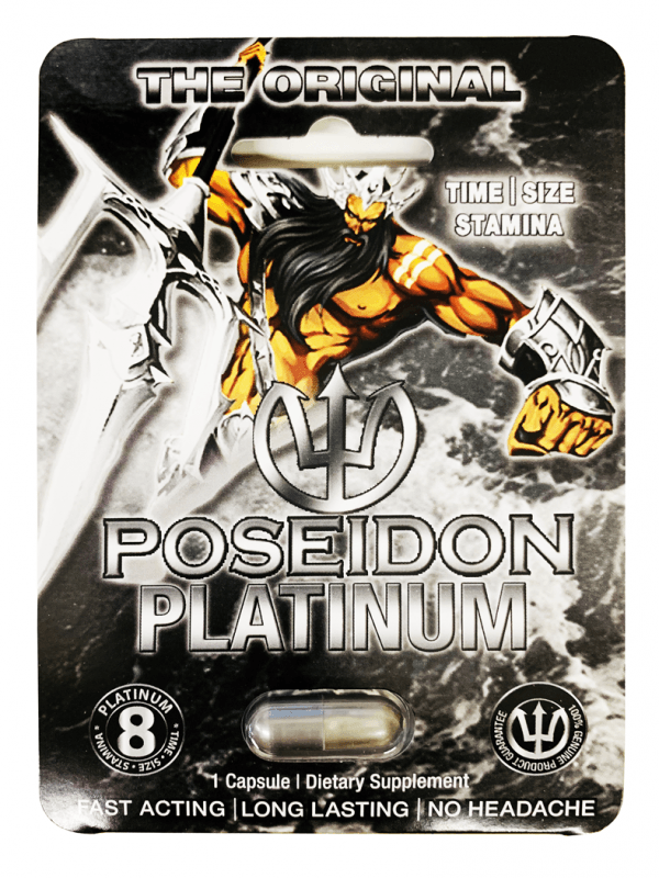 Poseidon Platinum 8 Male Sexual Enhancer Pill
