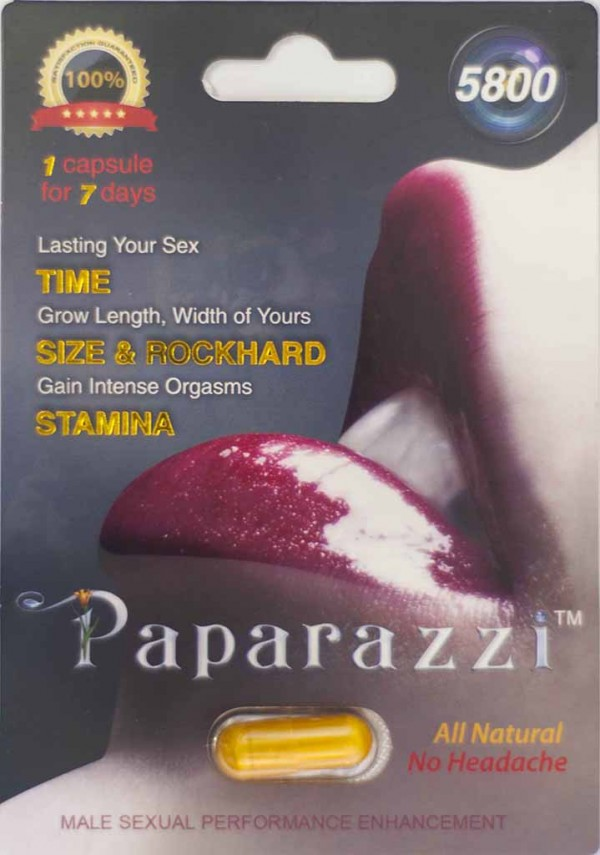 Papparazzi 5800 mg Male Sexual Performance Enhancement Pill