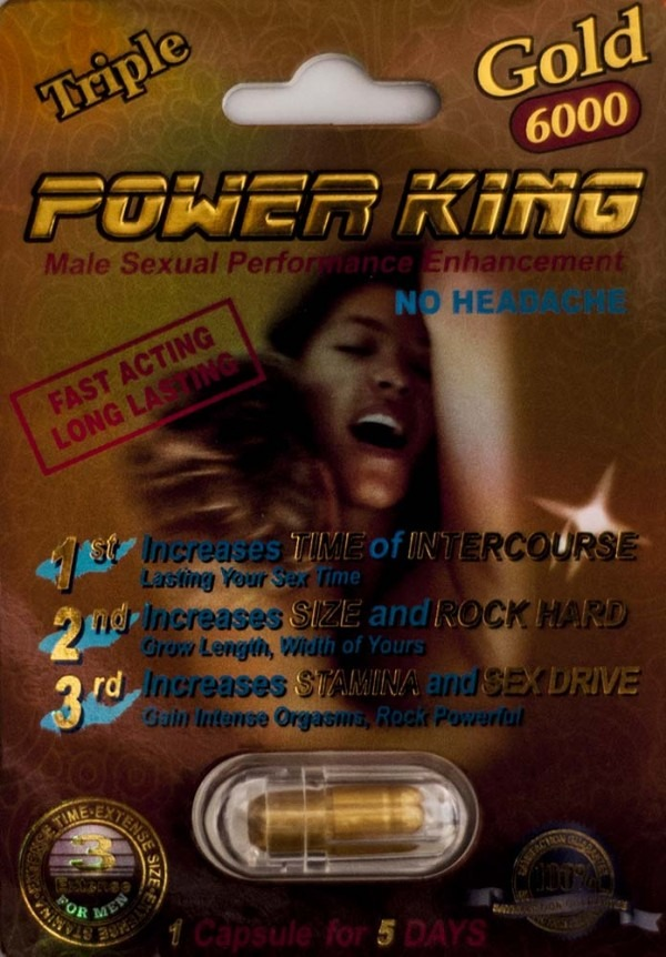 Triple Power king Gold 6000 Men Enhancement Pill