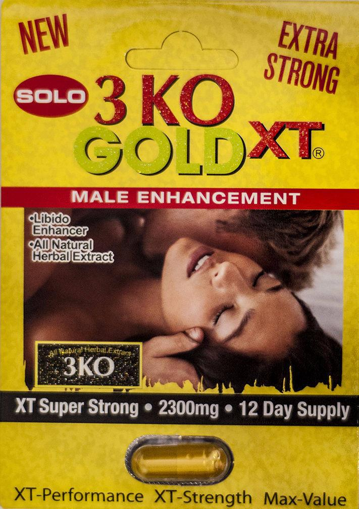 3 KO Solo Gold XT Super Strong Genuine Male Libido Enhancer Pill 2300 mg