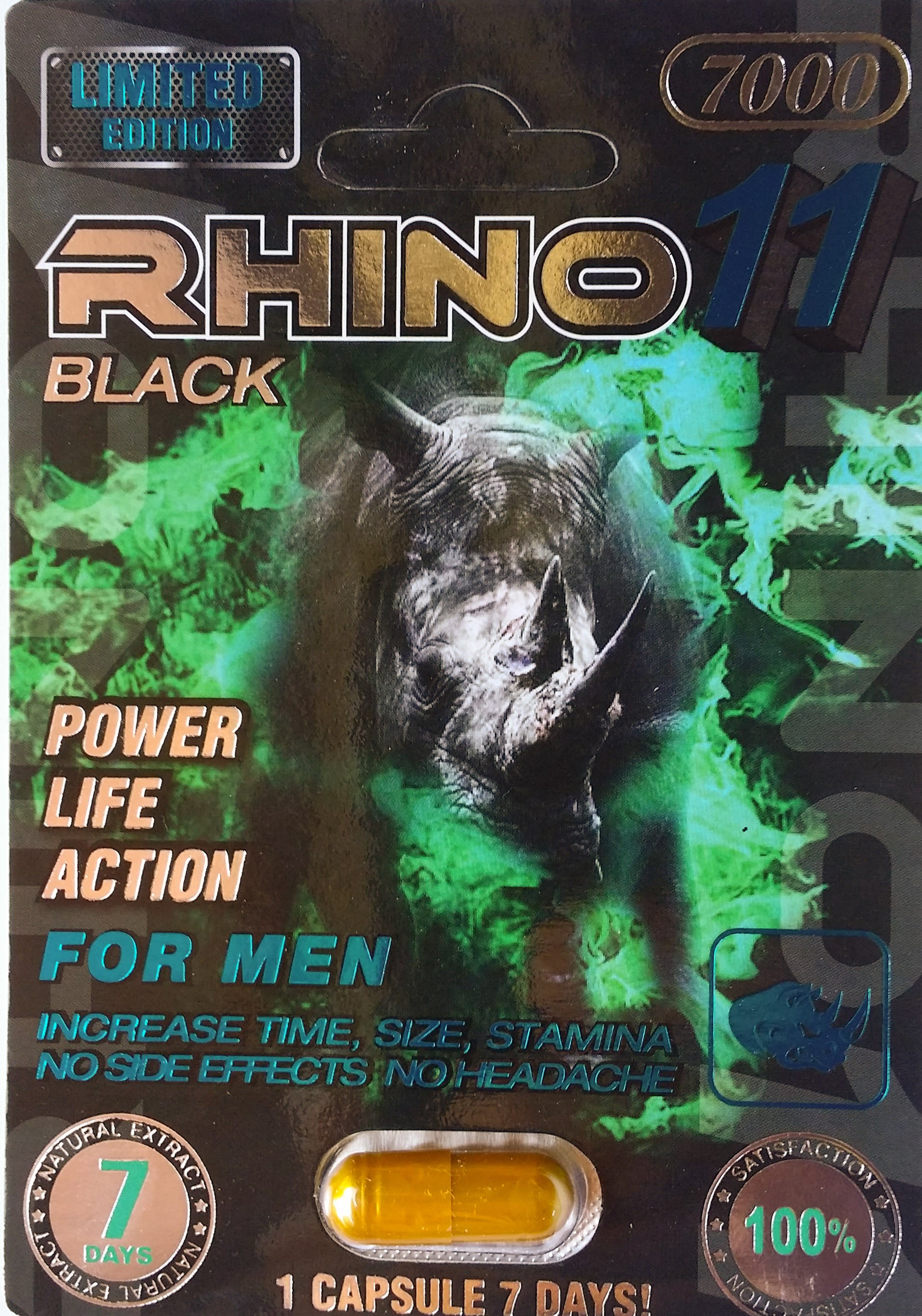 Black Rhino 11 7000 Male Enhancement Pill