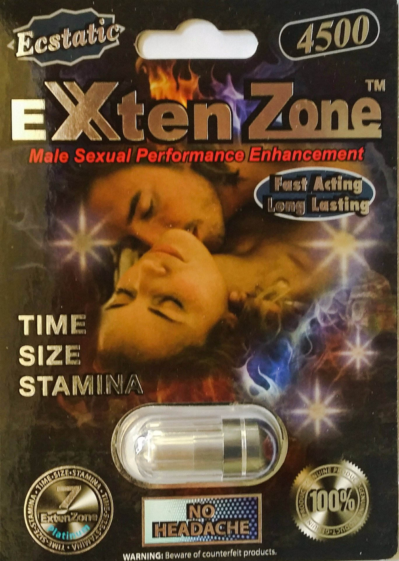 Exten Zone Ecstatic Platinum 4500 Male Sexual Enhancement