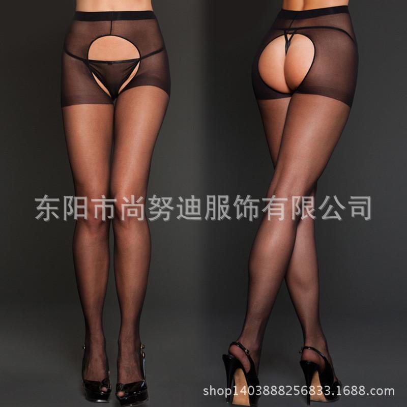 Hollow Out Sexy Stockings Free Take Off Both Sides Open Crotch Pantyhose Socks Nylon Soild Color Hosiery For Sex Games Free Size