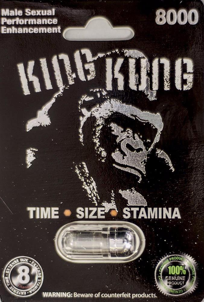 King Kung 8000 Male Sexual Performance Enhancement Pill-Silver