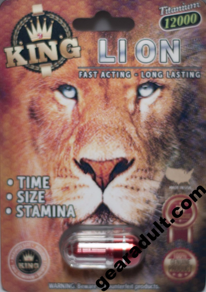 King Lion Titanium12000 Male Enhancement Pill 3D Package