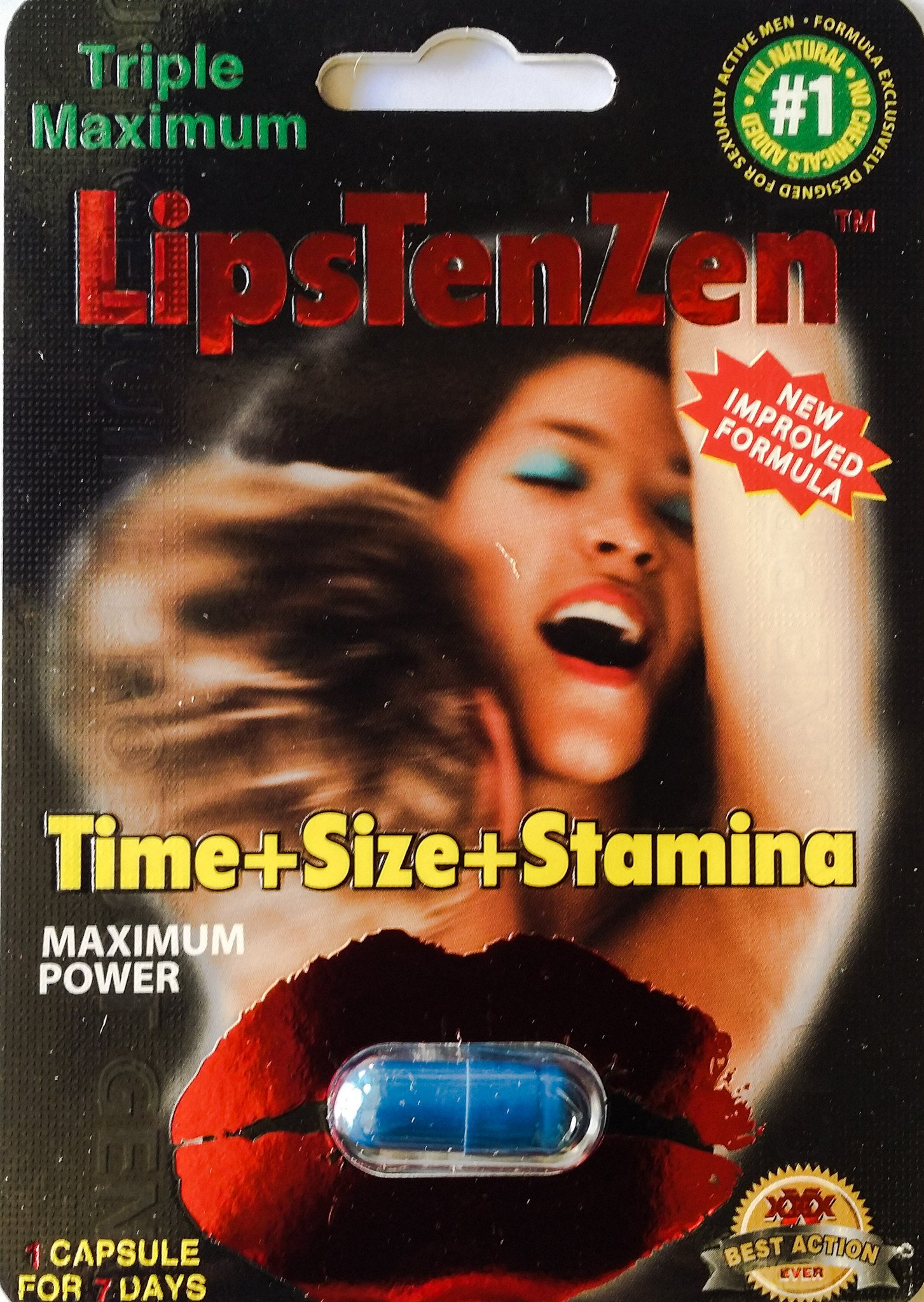 LipsTenZen Triple Maximum Power Genuine Natural Enhancement for Men Pill