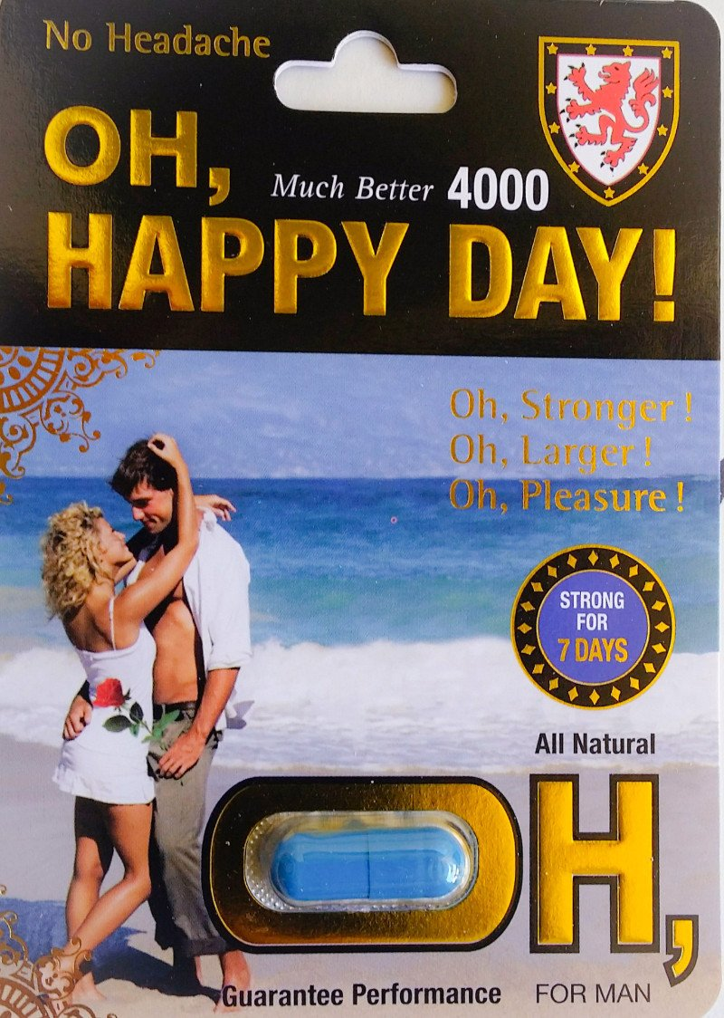 Oh Happy Day 3000 7 Days For Men Natural Libido Enhancer 4000mg Pill