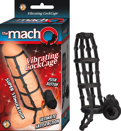 THE MACHO VIBRATING COCKCAGE – BLACK
