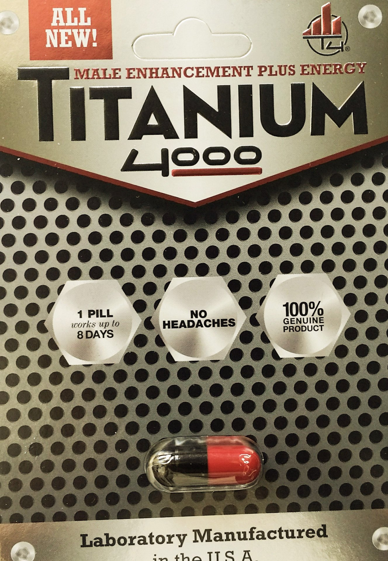 Titanium 4000 Male Enhancement Plus Energy Pill100% Genuine No Headache