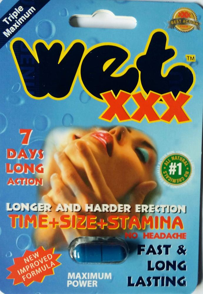 Wet XXX 2500pwr 7 Days Premium Triple Maximum Genuine Natural Enahncement for Men 1 Pill