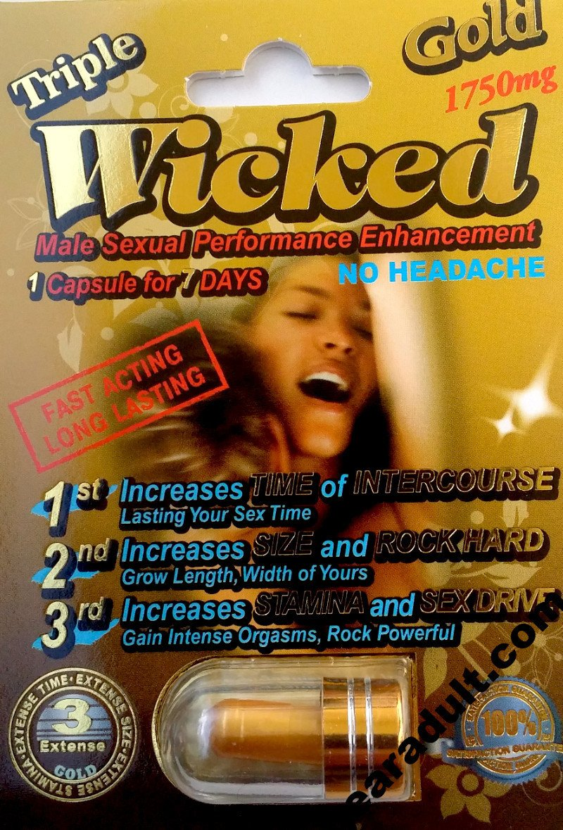 Wicked Gold 1750mg Male Enhancement Pill