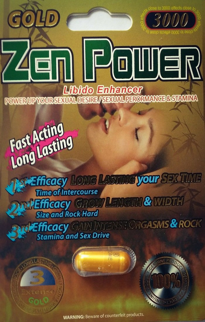Zen Power Gold 3000 Male Sexual Libido Enhancer Pill