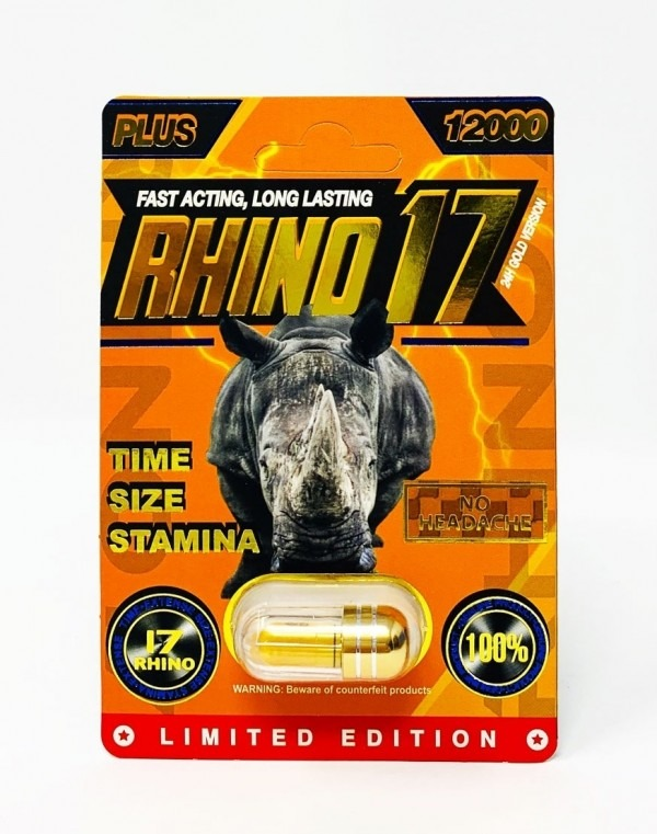Rhino 17 Plus 12000 Male Enhancement Pill