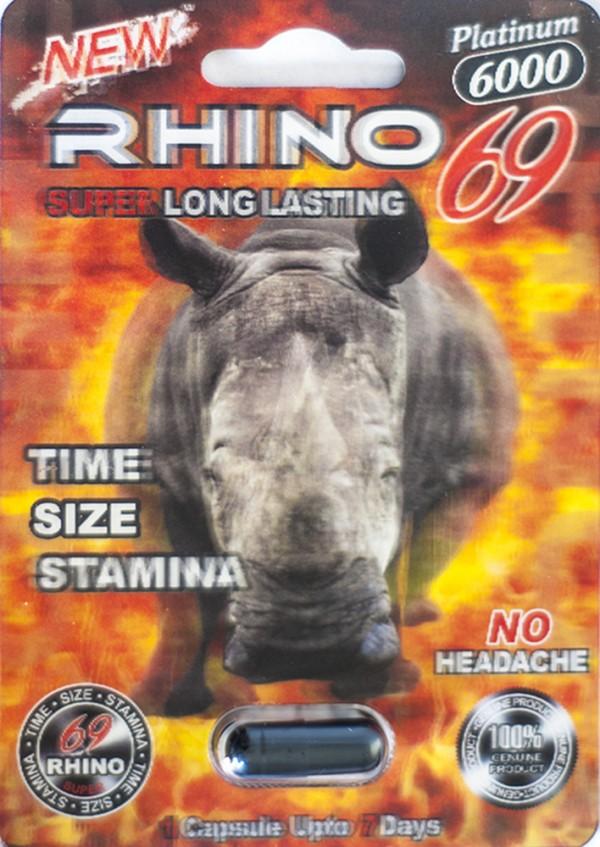 Rhino 69 Platinum 6000 Pill For Men Performance Enhancement