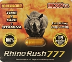 Rhino Rush 777 Male Sexual Enhancement Pill 15000 IU