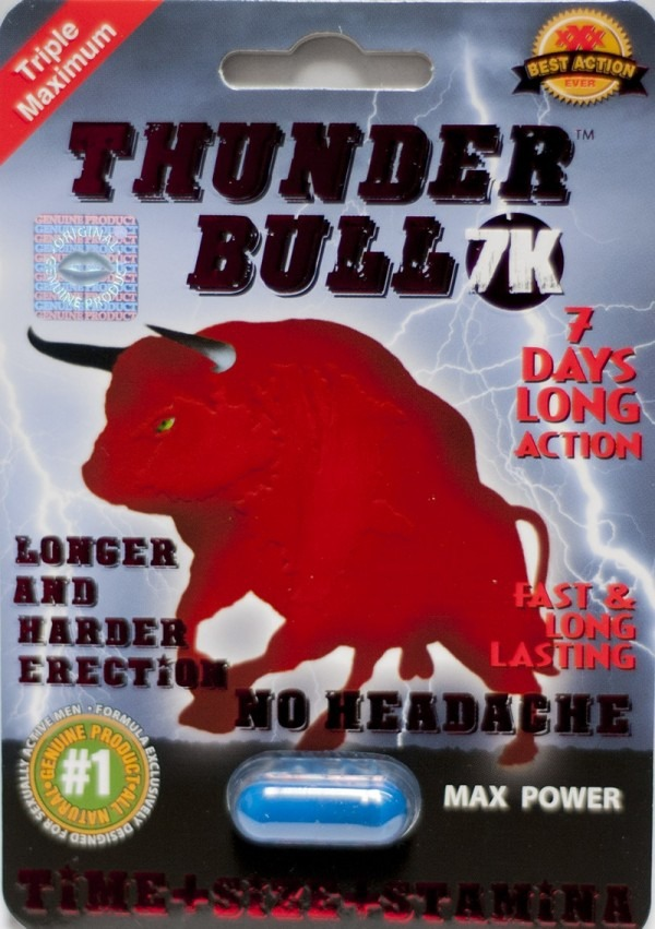 Thunder Bull 7k Triple Maximum Max Power Male Enhancement Pill for Men