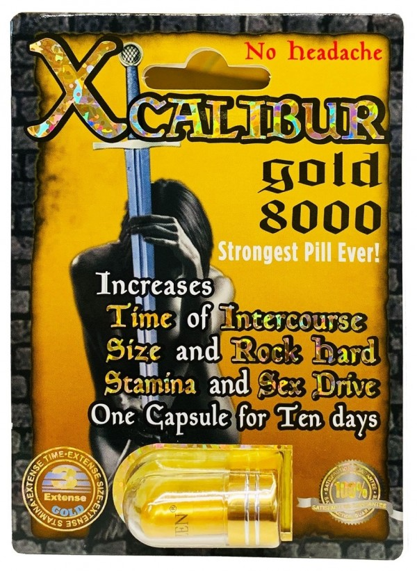 Xcalibur Gold 8000 Male Sexual Performance Enhancement Pill