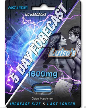 5 Day Forecast 1600 mg Male Enhancement Dietary Supplement Pill