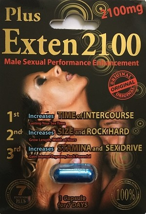 Exten Plus 2100mg Male Sexual Performance Enhancement Pill
