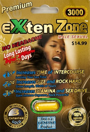 Exten Zone Premium Gold 3000 Male Enhancement Pill