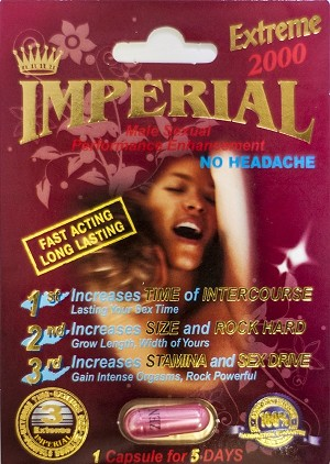 Imperial Extreme 2000 Male Sexual Enhancement Pill