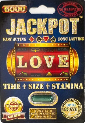 Jackpot 6000 Genuine Male Sexual Enhancer 1 Pill