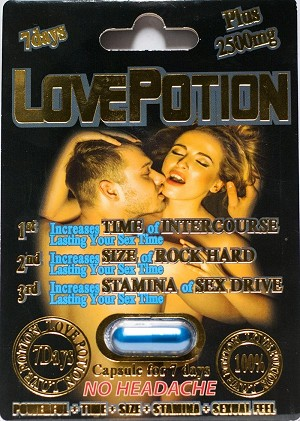 Love Potion Plus 2500mg Male Sexual Enhancement Blue Pill