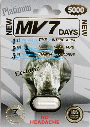 MV 7 Days Platinum 5000mg Male Enhancement Pill MV7