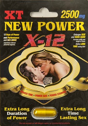 New Power X-12 2500mg XT 12 Days Sexual Enhancer Pill for Men