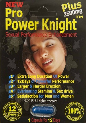 Pro Power Knight Plus 2750mg Sexual Performance Enhancement 2500 pill