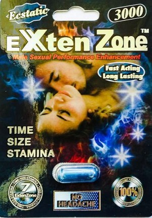 Exten Zone Ecstatic Male Sexual Enhancement Pills 3000 Pack