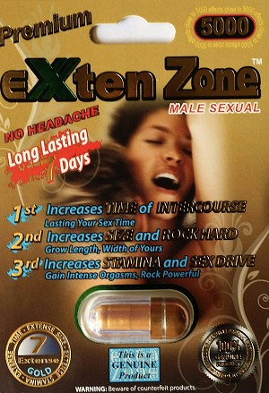 EXten Zone Premium Gold 5000 Male Sexual Enhancer Pill