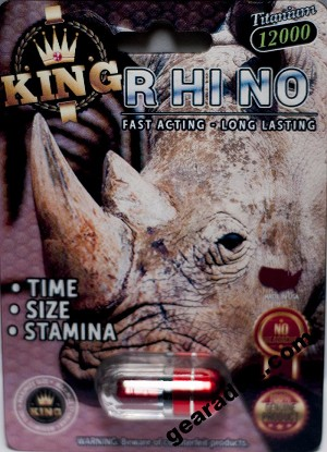 King Rhino Titanium 12000 Male Enhancement Black/Red Pill