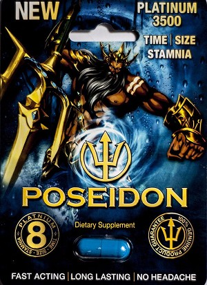 New Poseidon Platinum 3500 mg Sexual Dietary Supplement Genuine Pill