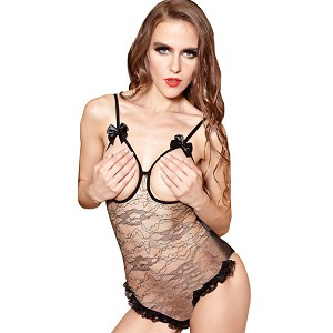 Open Crotch And Bra Sexy Teddy Lingerie Lace Underwear Women Erotic Night Dress Intimates Porn SM Adult Sex Games Lovers Gift