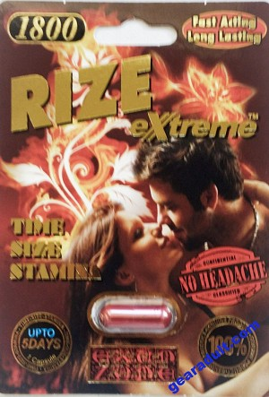 Rize Extreme 1800mg Super Performance Male Enhancement Pill