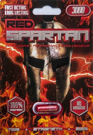 Red Spartan 3000 7 Days Male Sexual Performance Enhancement Pill