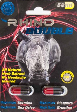 Rhino Double 5800 Male Sexual Performance Enhancer 2 Pills Pack